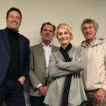 Michael Hoppe zusammen den Vorstandmitgliedern Ute Pichorner, Guy Loretan und Christoph Möller